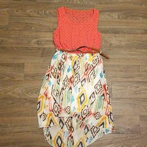 High-low Aztec dress